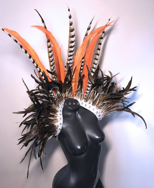 WBFF Competition Luxury feather themewear harness by SambaCouture