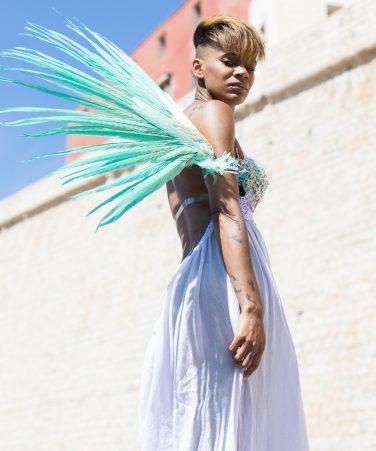 WBFF Luxe Themewear Rhinestone Arm Wings