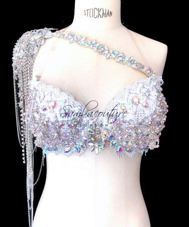 SambaCouture WBFF Competition Luxury rhinestone theme wear shoulder accessory